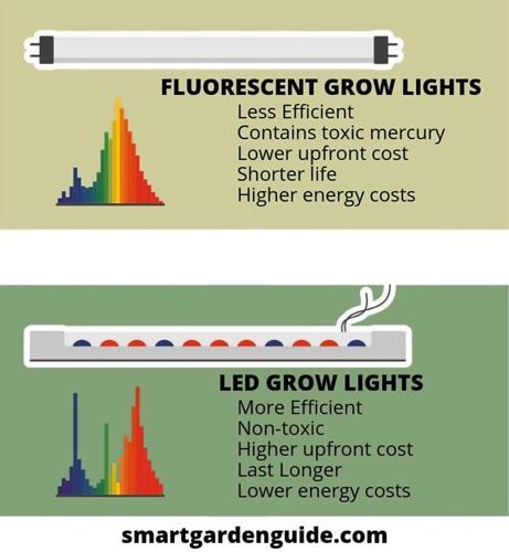 Luces de cultivo LED frente a fluorescentes